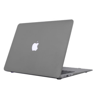 Rubberized Protective Case Cover For Apple Macbook Retina 13 inch(Grey) with Free Keyboard Cover / Protector (Black) - 2