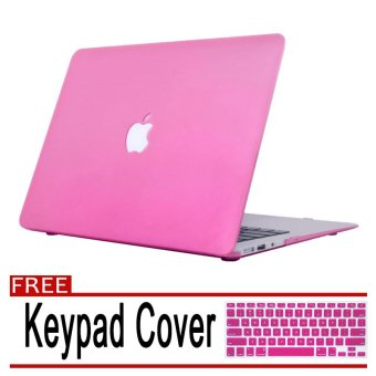 Rubberized Protective Case Cover For Apple Macbook Retina 13 inch(Pink) with Free Keyboard Cover / Protector (Pink)