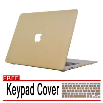 "Rubberized Protective Tablet Case Cover For Apple Macbook Air 13""(Gold) with Free"