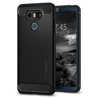 Rugged Armor LG G6 Case with Resilient Shock Absorption and CarbonFiber Design for LG G6 (2017) - intl