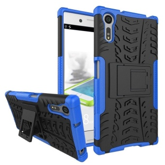 Rugged Heavy Duty Armor Hard Back Cover Case with Kickstand forSony Xperia XZ F8332 F8331 (Sony Kagura DS / Sony Kagura SS) - intl