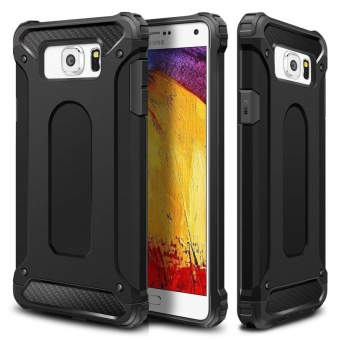 Rugged Hybrid Dual Layer Armor Protective Back Case Shockproof Hard Cover for Samsung Galaxy Note 5 - intl