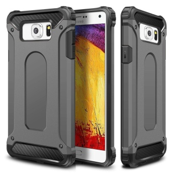 Rugged Hybrid Dual Layer Armor Protective Back Case Shockproof HardCover for Samsung Galaxy Note 5 - intl