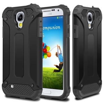 Rugged Hybrid Dual Layer Hard Shell Armor Protective Back Case Shockproof Cover for Samsung Galaxy S4 I9500 - intl