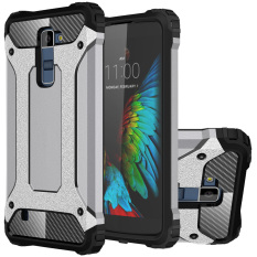RUILEAN Heavy Duty Armor Dual Layer Hybrid Shock Absorbing TPU PCProtective Case Cover for LG K10