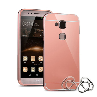RUILEAN Luxury Metal Aluminum Bumper Case for Huawei G7 Plus / G8 /Maimang 4 (Rose Gold) Price Philippines