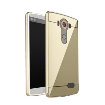 RUILEAN Luxury Metal Aluminum Bumper Case for LG V10 (Gold)