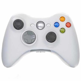 S & F Silicone Skin Protector Case Cover for XBOX 360 XBOX360 Wireless Controller (White) - Intl