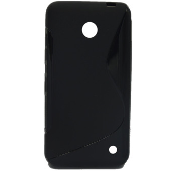 S Line Flexible TPU Protective Case Cover for Nokia Lumia 630 Clear Black