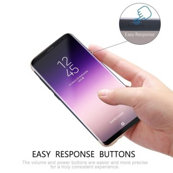 S8 phone Case + tempered glass/ Luxury Chromed 3in1 Hybrid Armor Shockproof Matte Texture Skin Hard PC Cover For Samsung Galaxy S8/For Samsung Galaxy S8 Anti Blue-Ray Eye Protect Full Cover Tempered Glass Screen Protector Film - intl - 4