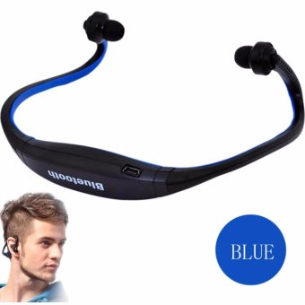 S9 Sports Wireless Bluetooth Stereo Earphone Headphones In-earHeadset Neckband for iPhone 7 Plus/iPhone6S Plus/SE/5S/ for SamsungAndroid Mobile Phones(Blue)