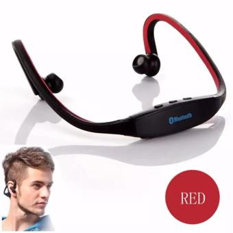 S9 Sports Wireless Bluetooth Stereo Earphone Headphones In-earHeadset Neckband for iPhone 7 Plus/iPhone6S Plus/SE/5S/ for SamsungAndroid Mobile Phones(Red)