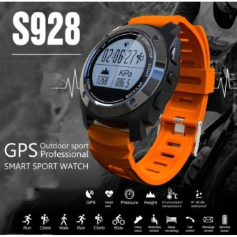 S928 Heart Rate Monitor Smart Watch with GPS Tracker Air PressureMonitor Phone call reminder Sport Watch Phone For Android IOS -intl