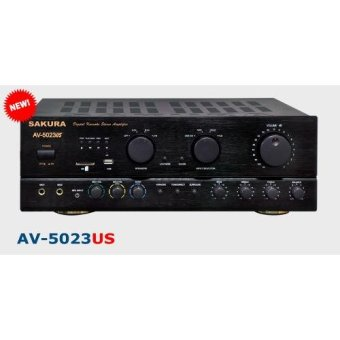 Sakura AV-5023US 2 X 550W 5.1 Channel Karaoke MP3 Amplifier (Black)