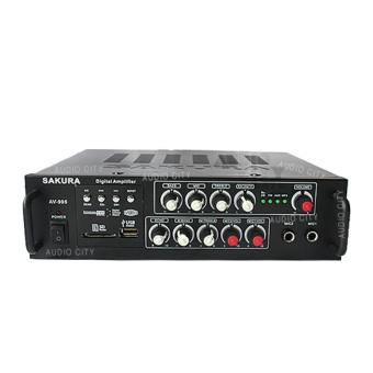 Sakura AV-996 2 Channel USB Karaoke Amplifier Digital Amplifier(Black)