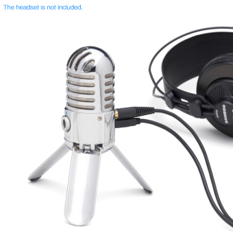 Samson Meteor Mic Studio Desktop Recording Condenser MicrophoneFold-back Legs Design with USB Cable Carrying Bag for ComputerNoteBook Tablet PC - intl - 5