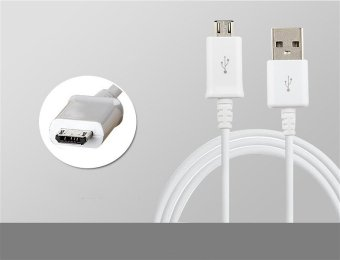 Samsung 2A 1.5M Micro USB Fast Charger Charging Sync Data Cable ForSamsung Note4 (White)