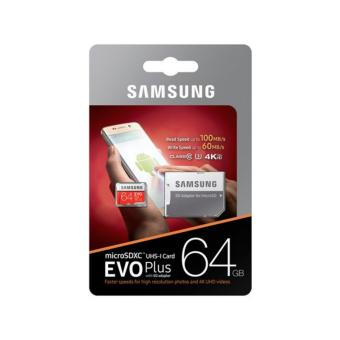 Samsung 64GB microSDXC UHS-1 Card Evo plus 100MB/S 4K Ultra HD