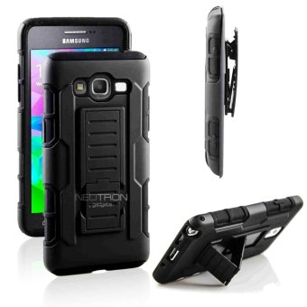 Samsung A5 2015 (A500) Optimus Designer (Black) Phone Case with Kickstand