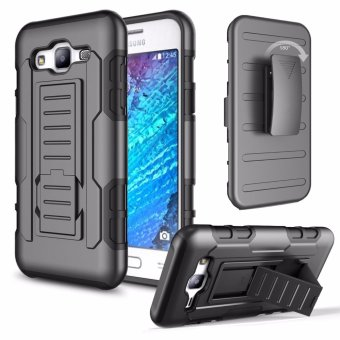 Samsung A7 2015 (A700) Optimus Designer (Black) Phone Case with kickstand