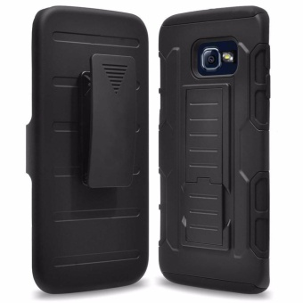 Samsung A7 2016 (A710) Optimus Designer (Black) Phone Case with kickstand