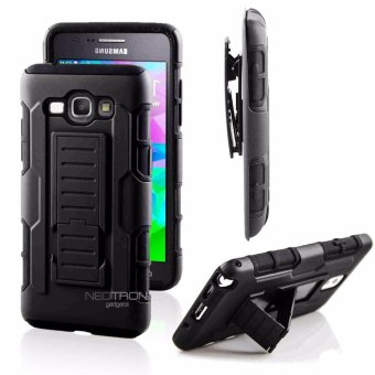 Samsung A8 (2015) Optimus Designer (Black) Phone Case with Kickstand