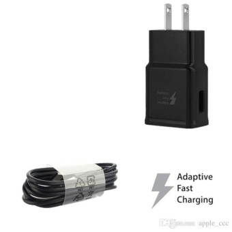 Samsung Adaptive Fast Rapid Charger For Samsung Galaxy WithPackaging And Sticker (BLACK)