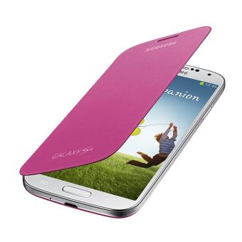 Samsung Flip Cover Folio Case for Galaxy S4 (Pink)