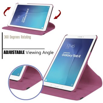 Samsung Galaxy Tab A 7.0 SM-T280 / SM-T285 7-inch Tablet Case - PULeather Rubberized Hard Shell 360 Degree Rotating Stand Smart Cover(Purple) - 2