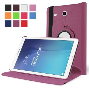 Samsung Galaxy Tab A 7.0 SM-T280 / SM-T285 7-inch Tablet Case - PULeather Rubberized Hard Shell 360 Degree Rotating Stand Smart Cover(Purple)