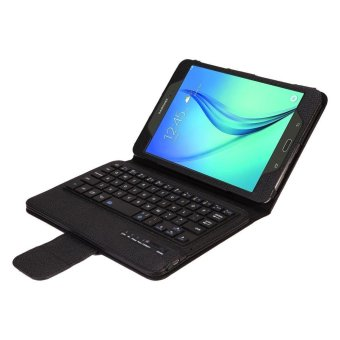 Samsung Galaxy Tab A 8.0 Keyboard case, CLOUDSEA Folding PU Leather Folio Case Cover & Detachable Wireless Bluetooth Keyboard Cover Case for Samsung Galaxy Tab A 8.0 SM-T350/P350 Android Tablet (Black) - intl