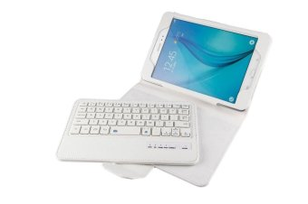 Samsung Galaxy Tab A 8.0 Keyboard case, CLOUDSEA Folding PU LeatherFolio Case Cover & Detachable Wireless Bluetooth Keyboard CoverCase for Samsung Galaxy Tab A 8.0 SM-T350/P350 Android Tablet(White) - intl