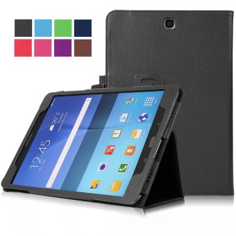 Samsung Galaxy Tab A 8.0 SM-T350 8-Inch Tablet Case - PU Leather Multi-Angle Stand Auto Sleep Wake Magnetic Smart Cover (Black)