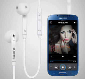 Samsung Handsfree In-ear Headset With Mic For Samsung Galaxy S6/S6Edge (White)