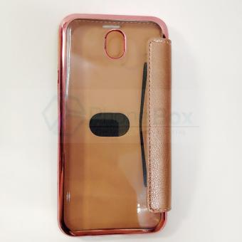 Samsung J7 Pro TPU Flip Nice Leather Coque Capa Cover Case (rosegold)