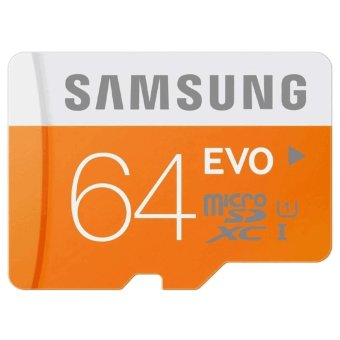 Samsung Micro SDXC Card Class 10 UHS-1 64GB Evo with SD Adapter(Orange/White) Price Philippines