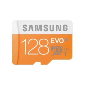 Samsung Micro SDXC Card UHS-1 Class 10 128GB Evo with SD Adapter(Orange/White) Price Philippines