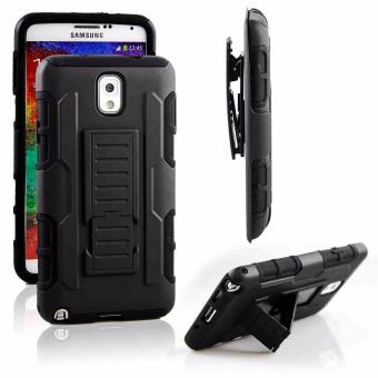 Samsung Note 3 Optimus Designer (Black) Phone Case with Kickstand