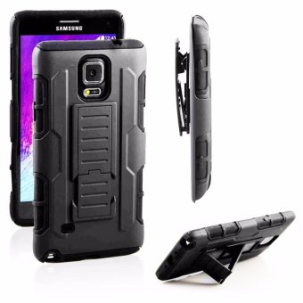Samsung Note 4 Optimus Designer (Black) Phone Case with Kickstand