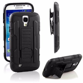 Samsung S4 Optimus Designer (Black) Phone Case with Kickstand
