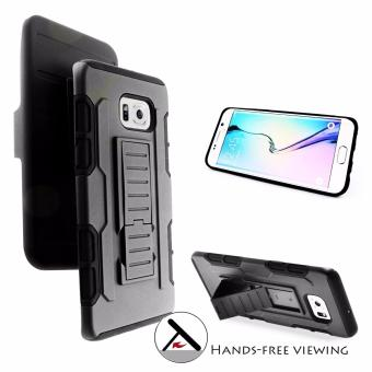 Samsung S6 edge Plus Optimus Designer (Black) Phone Case with Kickstand
