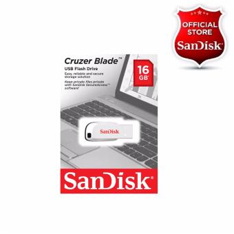 Sandisk 16GB Cruzer Blade USB 2.0 Flash Drive WHITE