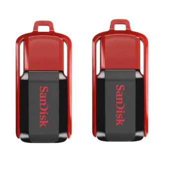 SanDisk Cruzer Switch 64GB Flash Drive Set of 2 (Red/Black)
