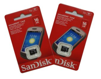 SanDisk SDSDQM-016G-B35 16GB Micro SDHC Card Set of 2