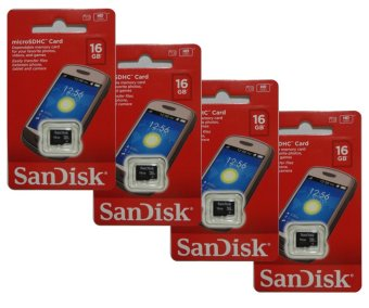 SanDisk SDSDQM-016G-B35 16GB Micro SDHC Card Set of 4 - picture 2