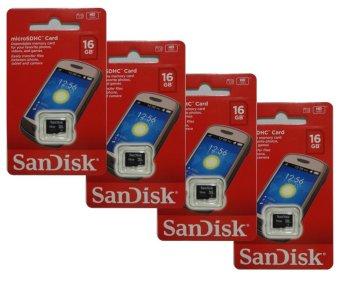 SanDisk SDSDQM-016G-B35 16GB Micro SDHC Card Set of 4