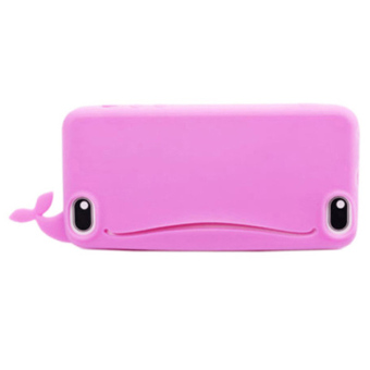 Sanwood Big Mouth Whale Rubber Case Cover For iPhone 4s/4 Rose-Red