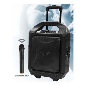 SDigital Bass Cruzer Portable Speaker System With Balanced FullRange Sound (Easy to carry with wheels)