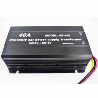 SE-460 40A DC24V To DC12V Effciently CAR Power Supply Transformer#0123
