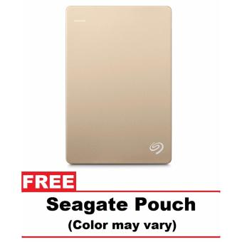Seagate Backup Plus Slim 2TB Portable External Hard Drive USB 3.0 for Windows and Mac (Gold) with FREE Seagate Pouch + 3 YEARS WARRANTY